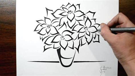 poinsettia tattoo how to draw poinsettia flowers tribal design