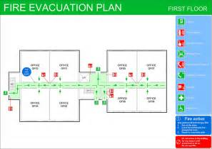 escape route template pin evacuation signs on