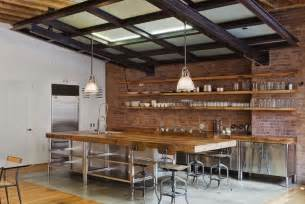 brick kitchen small home