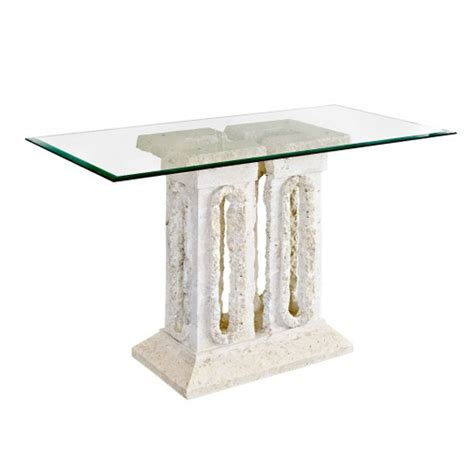 stone sofa table tower macatan stone console table with glass top ms224