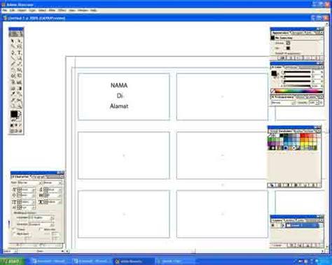 format print alamat di lop cetak label 103 sticker nama undangan di adobe ilustrator