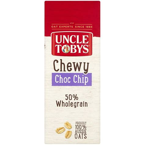 Tobys Muesli Bar tobys muesli bars choc chip 15pk 469g woolworths