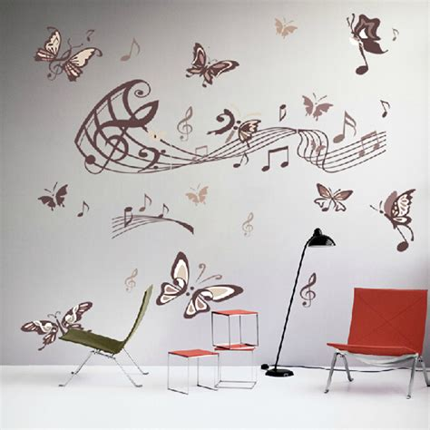hot sale diy vinyl wall stickers decal art mural for kids hot sale butterfly music note wall art vinyl quote