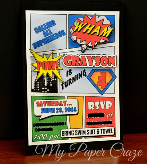Introducing Our Downloadable Invites by Comic Book Invitation With Free Printable