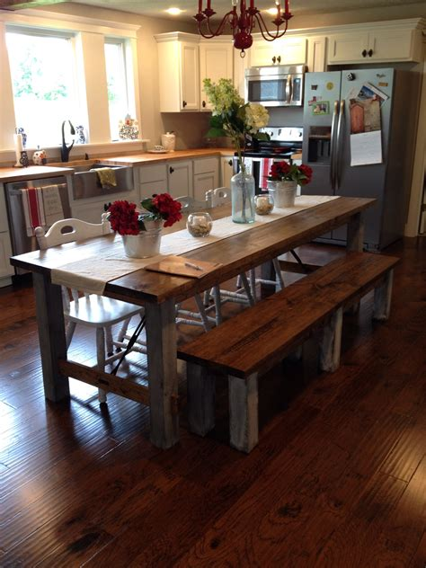 farmhouse kitchen furniture shara at chasing a shares farmhouse kitchen table for a family of 2 re fabbed