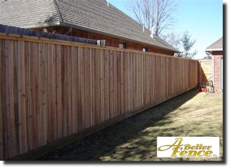 Decorative Privacy Fence by Board On Board Privacy Fence How To Make Fence