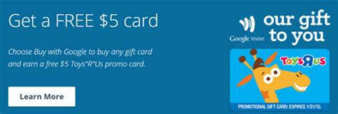 Google Wallet Gift Card Limit - free 5 toysrus promo gift cards from gyft frequent miler