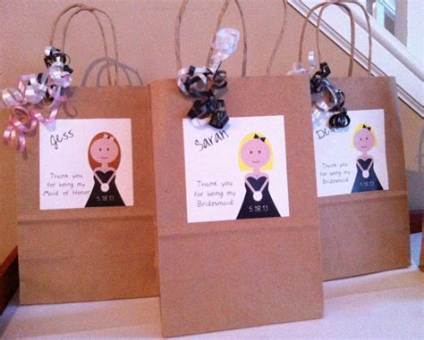 Handmade Bridesmaid Gifts - bridesmaid gift bag personalized bag bridesmaid gift custom