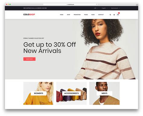 22 Best Free Ecommerce Website Templates In 2018 Uicookies Free Ecommerce Website Templates