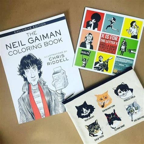 The Neil Gaiman Coloring Book independent bookstore day 2016 word