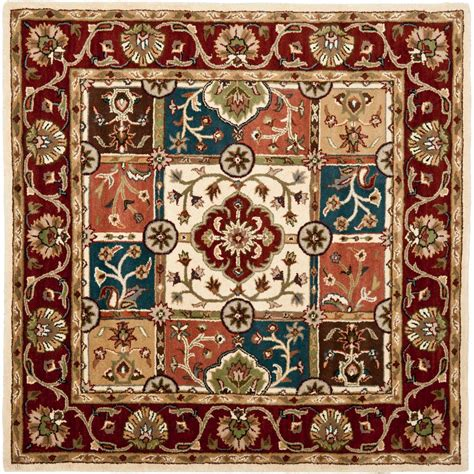 safavieh heritage accent rug in red multi hg926a 2 safavieh heritage multi red 8 ft x 8 ft square area rug