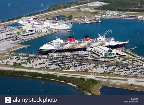 cocoa canaveral cruise ships in harbor at canaveral cocoa