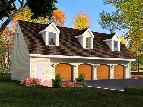 Four Car Garage House Plans by 4 Car Garage House Plans 48x36 4 Car Garage 48x36g1