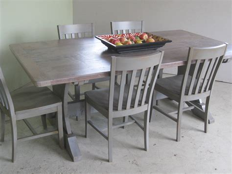 trestle table in driftwood finish lake and mountain home