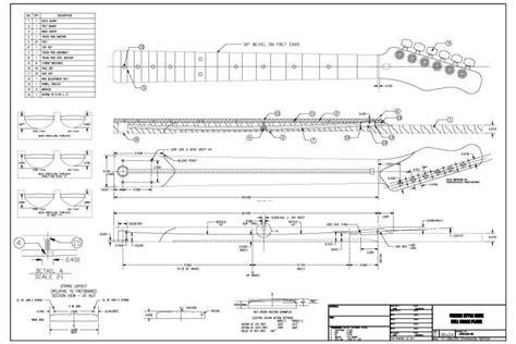 strat neck template telecaster neck schematic fender telecaster guitar