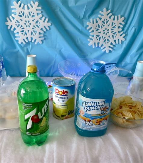 Green Baby Shower Punch by Blue Punch With Snow Baby Shower Gifts
