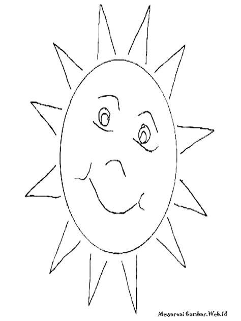 mewarnai gambar matahari mewarnai gambar