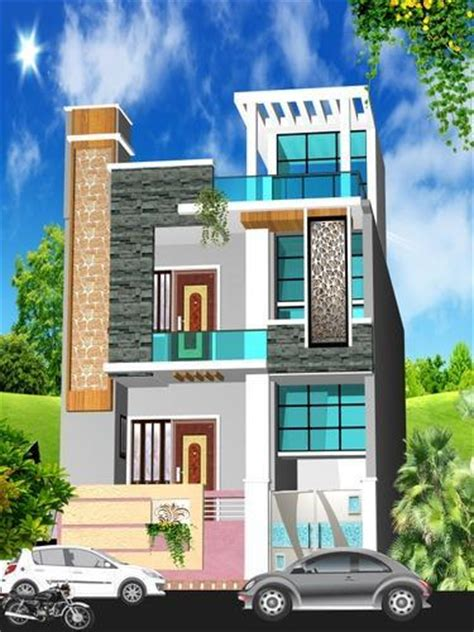 house 2 floor front 3d elevation design service hospital