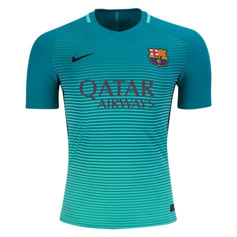 Jersey Barcelona Away Big Size 3xl 16 17 barcelona third away green soccer jersey shirt player version barcelona jersey shirt