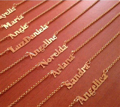 comprar cadenas personalizadas cadenitas personalizadas con nombres ba 241 ada en oro 18k