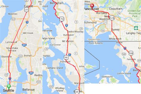 map seattle vancouver seattle vancouver high speed rail part 2 everett to