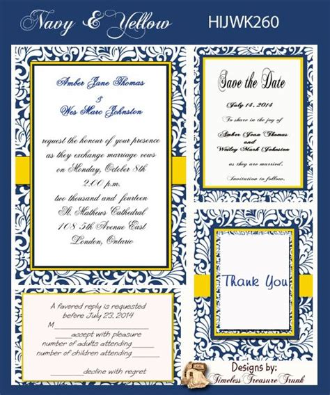 1000 images about navy and yellow wedding invitations on