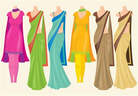 dress design vector free indian wedding vector clipart 38