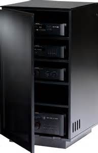 Audio Video Racks For Enclosed Cabinets Bdi Mirage 8222 Bl Hifi Stands