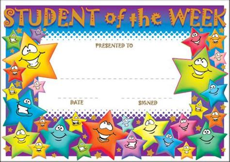 Home Decoratives Online Sct006 Student Of The Week Discovery Educational