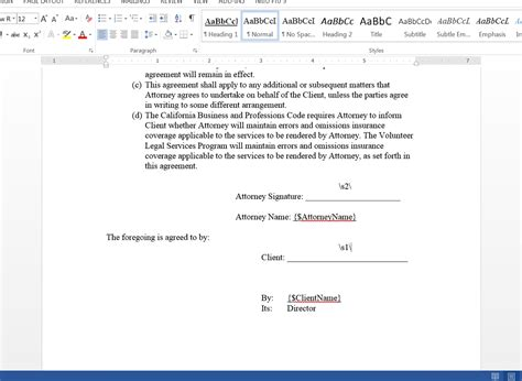 signed document template automatically generate retainer agreements from clio