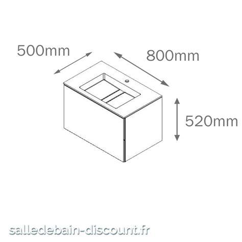 cosmic meuble lavabo blanc mat 80x50x52cm vasque moul 233 e en