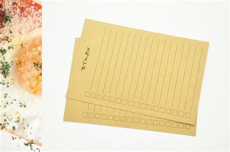 to do list kraft note cards kraft paper note cards size