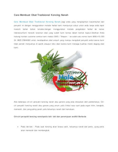 cara membuat obat bius gas cara membuat obat tradisional kencing nanah