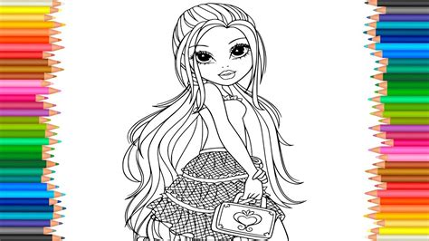 moxie girlz avery coloring page  coloring markers