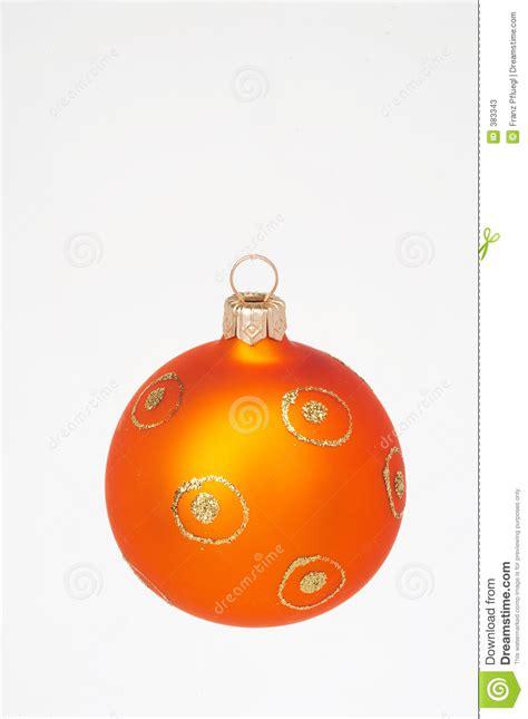 orange christmas ball orange weihnachtskugel stock image