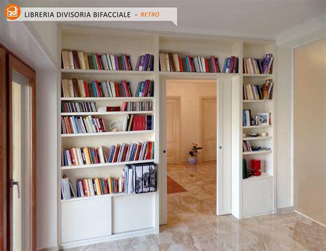 librerie divisorie in legno librerie bifacciali su misura costruite in vero legno