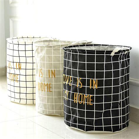 Cotton Storage foldable waterproof linen cotton storage box geometric