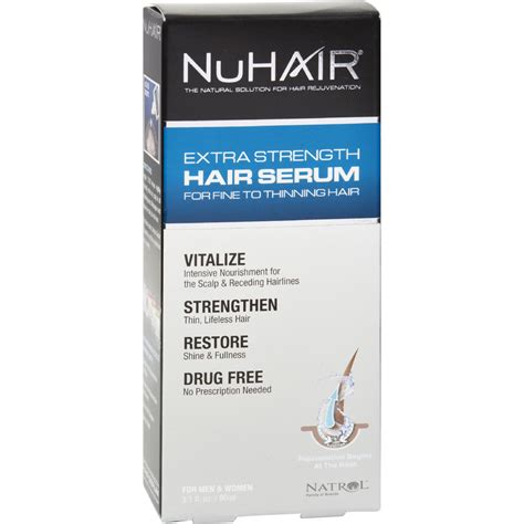 Nuhair Thinning Hair Serum Extra Strength For Men And | nuhair extra strength thinning hair serum for men and