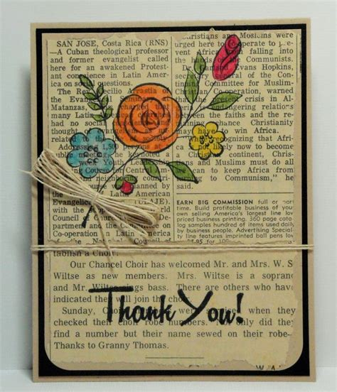 Handmade Paper Articles - 224 best images about thank you cards on