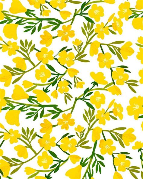 yellow pattern pinterest best 25 yellow flower wallpaper ideas on pinterest
