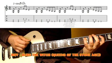 guitar lesson queens of the stone age burn the witch riff queens of the stone age guitar