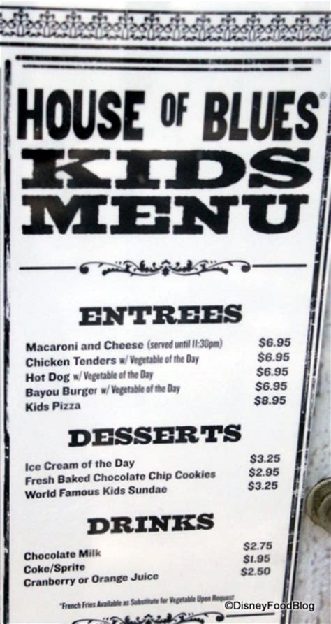 House Of Blues Orlando Menu by Review House Of Blues Orlando The Disney Food