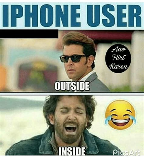 How To Make A Meme On Iphone - iphone user flirt caten outside inside pis art iphone