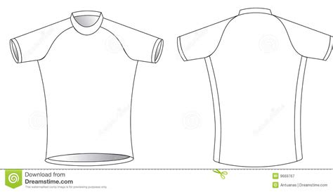 blank cycling jersey template cycling jersey stock vector illustration of graphic simple 9669767