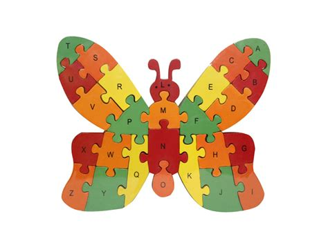 Puzzle Alphabet Butterfly puzzle wooden number letters butterfly design charts unlimited