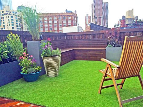 Remodeling Ideas For Small Bathrooms tribeca rooftop garden bamboo fence artificial turf