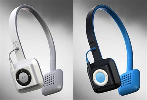 Headset Apple Ipod cord free headphones integrate apple s ipod shuffle into