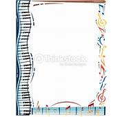 Border Music Notes Piano Keys Color Also Available In