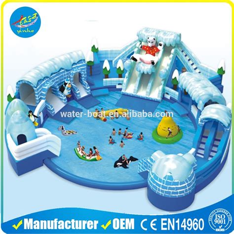 backyard inflatable water park outdoor giant inflatable water park with pool for kids