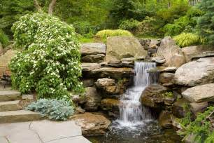 waterfalls cording landscape design